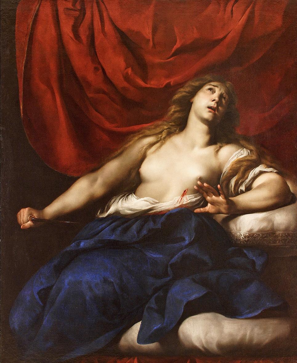 Andrea Vaccaro  -  Lucrezia - olio su tela cm. 154,5 x 127,5